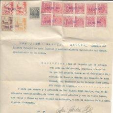 Militaria: TIERRA DE LA 1ª TUMBA DEL FUNDADOR DE LA FALANGE JOSE ANTONIO PRIMO DE RIVERA CON CERTIFICADO. Lote 193940445