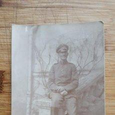 Militaria: 1ª GUERRA MUNDIAL . FOTO POSTAL SOLDADO ALEMAN CON LA CRUZ DE HIERRO . ORIGINAL 100%. Lote 193942665