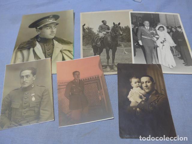 * LOTE 6 FOTOGRAFIAS DE REGULARES DE MISMA FAMILIA. ZX (Militar - Fotografía Militar - Guerra Civil Española)