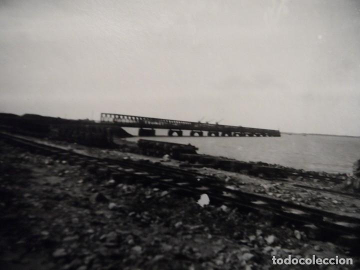 VIAS DE FERROVIARIAS Y MUELLE DE CARGA DE MINERAL. NORUEGA. III REICH. AÑOS 1939-45 (Militar - Fotografía Militar - II Guerra Mundial)