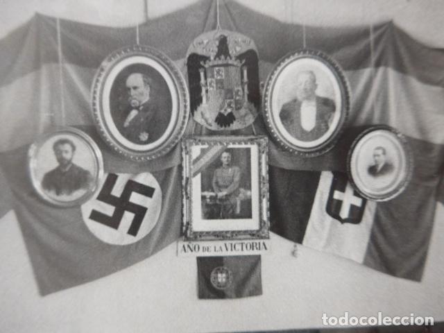 Militaria: * Antigua fotografia de 1939 de aliados de Franco de guerra civil, sellada barcelona. ZX - Foto 2 - 194237471