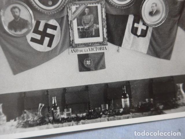Militaria: * Antigua fotografia de 1939 de aliados de Franco de guerra civil, sellada barcelona. ZX - Foto 3 - 194237471