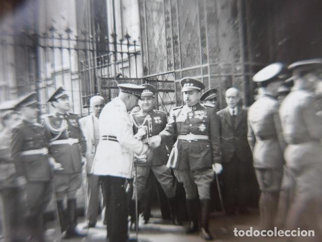 Militaria: * Antigua fotografia militar y policia armada de alto rango, años 40, original. ZX - Foto 3 - 194238180