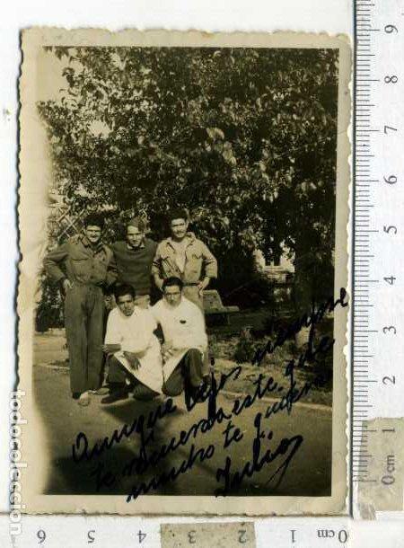 Militaria: LOTE DE CUATRO FOTOGRAFÍAS MILIARES EN EL HOSPITAL - Foto 3 - 194239416