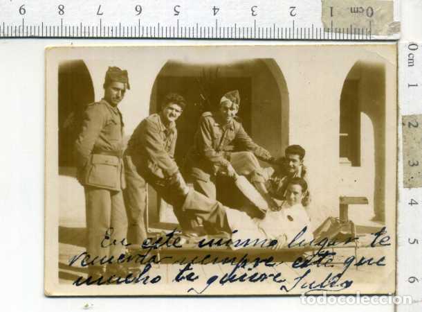 LOTE DE CUATRO FOTOGRAFÍAS MILIARES EN EL HOSPITAL (Militar - Fotografía Militar - Otros)