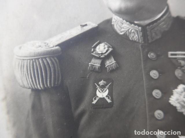 Militaria: * Antigua espectacular fotografia de general de regulares y somaten catalan + docs. Original. ZX - Foto 5 - 194239853