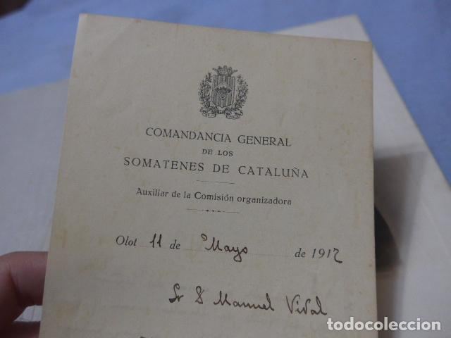 Militaria: * Antigua espectacular fotografia de general de regulares y somaten catalan + docs. Original. ZX - Foto 9 - 194239853