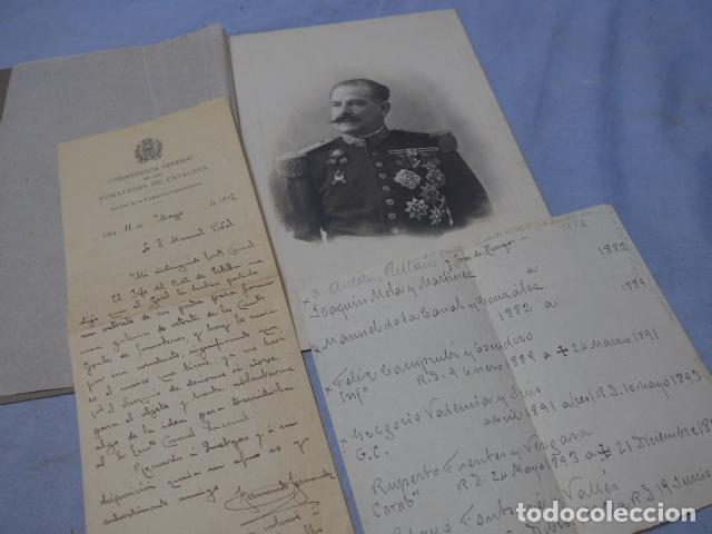 Militaria: * Antigua espectacular fotografia de general de regulares y somaten catalan + docs. Original. ZX - Foto 1 - 194239853