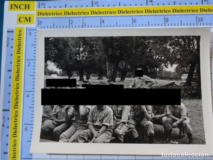 FOTO FOTOGRAFÍA. GUARDIA CIVIL. AGENTES MANIOBRAS CAMPAMENTO EN SAN LORENZO DEL ESCORIAL 1958. 2795 (Militar - Fotografía Militar - Otros)