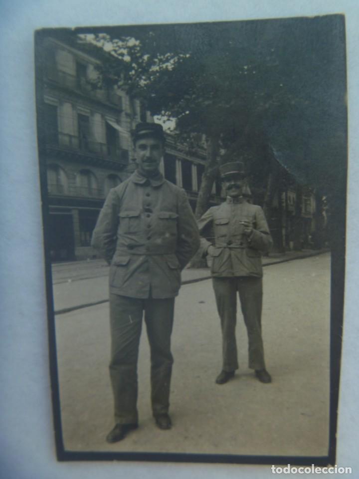 I ª GUERRA MUNDIAL : FOTO DE DOS MILITARES FRANCESES. EJERCITO DE FRANCIA, 1915 (Militar - Fotografía Militar - I Guerra Mundial)