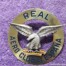 Militaria: CHAPA ANTIGUA REAL AERO CLUB DE ESPAÑA. Lote 194590086