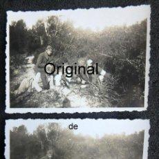 Militaria: (JX-200272)DOS FOTOGRAFÍAS SOLDADOS CON AMETRALLADORA,UNIFORME DE COMBATE,GUERRA CIVIL,PORTO CRISTO.. Lote 194606830