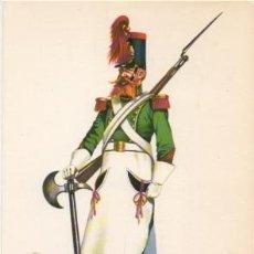 Militaria: LAMINA DE UNIFORMES MILITARES. CABO DE GASTADORES DE INFANTERIA. 1840-46 LAMUNI-003 . Lote 194684228