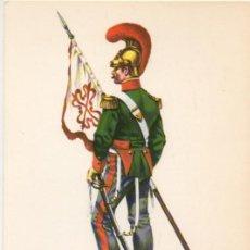 Militaria: LAMINA DE UNIFORMES MILITARES. BATIDOR DE LANCEROS DE CALATRAVA 1845 LAMUNI-004. Lote 194684282