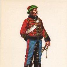Militaria: LAMINA DE UNIFORMES MILITARES. ESCUADRON ORDENANZAS DEL GENERAL 1846 LAMUNI-005. Lote 194685300