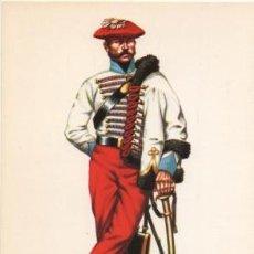 Militaria: LAMINA DE UNIFORMES MILITARES. HUSARES DE ARLABAN 1846 LAMUNI-006. Lote 194685440