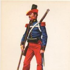 Militaria: LAMINA DE UNIFORMES MILITARES. ARTILLERIA DE LAS TROPAS DE CABRER 1847 LAMUNI-008. Lote 194685831