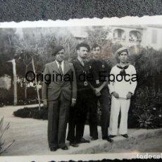 Militaria: (JX-200291)FOTOGRAFÍA SOLDADOS,FALANGISTAS Y MARINO (RADIOTELEGRAFOS )GUERRA CIVIL,PALMA DE MALLORCA. Lote 194695315