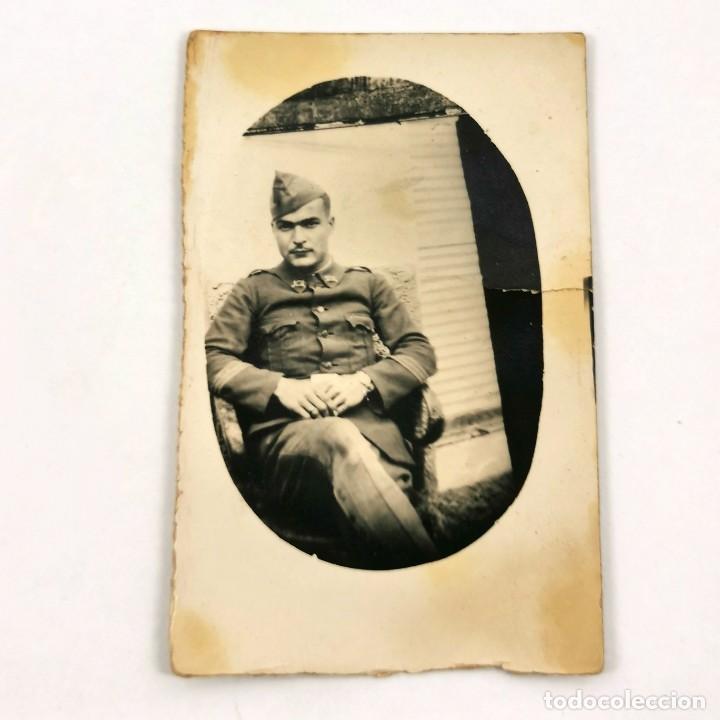 FOTOGRAFIA MILITAR DE INFANTERIA - 4 DE MAYO DE 1931 - MILITAR MANUEL ESTIVILL - 7 X 4,5 CM / TC-6 (Militar - Fotografía Militar - Guerra Civil Española)