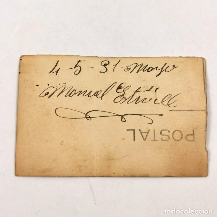 Militaria: FOTOGRAFIA MILITAR DE INFANTERIA - 4 DE MAYO DE 1931 - MILITAR MANUEL ESTIVILL - 7 X 4,5 CM / TC-6 - Foto 2 - 194729578