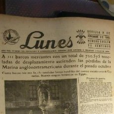 Militaria: HOJA DEL LUNES 2 DE NOVIEMBRE DE 1942 GUERRA MUNDIAL.. Lote 194736770
