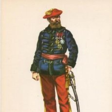 Militaria: LAMINA DE UNIFORMES MILITARES. GENERAL CARLISTA. ESPAÑA 1875 LAMUNI-028. Lote 194759543