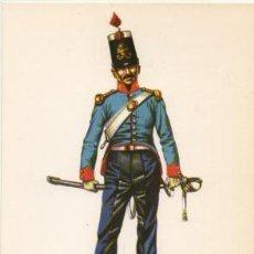 Militaria: LAMINA DE UNIFORMES MILITARES. CABALLERIA LIGERA. ESPAÑA 1825-35 LAMUNI-029. Lote 194759628