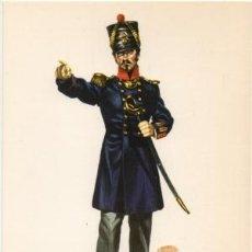 Militaria: LAMINA DE UNIFORMES MILITARES. OFICIAL DE GRANADEROS. ESPAÑA 1835 LAMUNI-033. Lote 194764398
