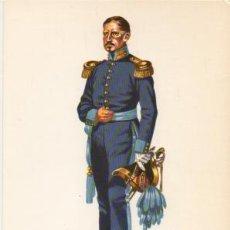 Militaria: LAMINA DE UNIFORMES MILITARES. OFICIAL CUERPO ESTADO MAYOR. ESPAÑA 1836 LAMUNI-035. Lote 194764558