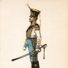 Militaria: LAMINA DE UNIFORMES MILITARES. OFICIAL RGTO. CABALLERIA DE MARIA CRISTINA. ESPAÑA 1836 LAMUNI-036. Lote 194764765