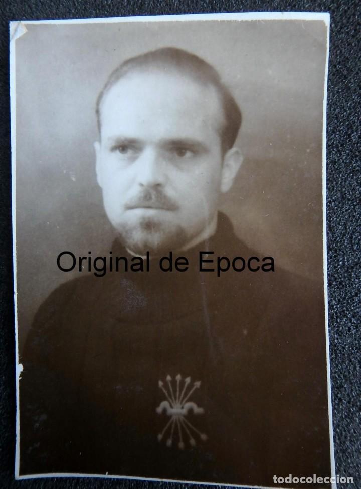 (JX-200200)FOTOGRAFÍA DE FALANGISTA , PALMA DE MALLORCA , GUERRA CIVIL . MEDIDAS 5,50 CM X 8,00 CM . (Militar - Fotografía Militar - Guerra Civil Española)