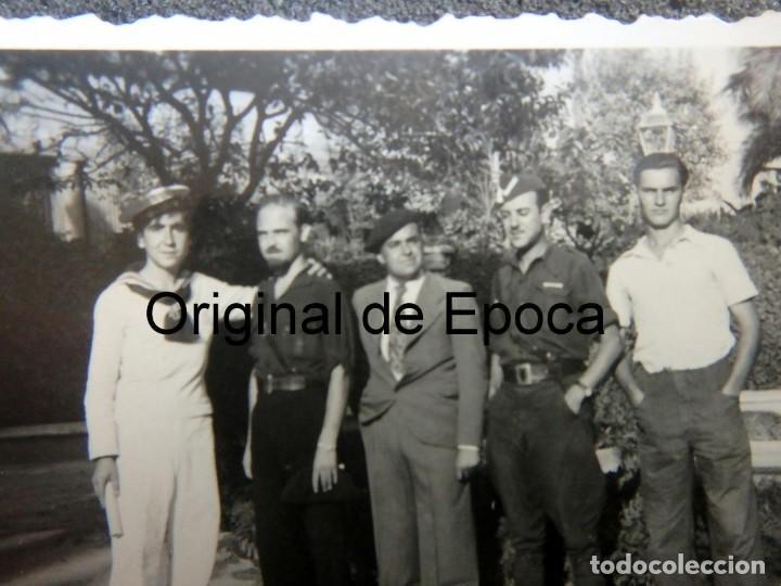 Militaria: (JX-200202)Fotografía de soldados,Falangistas y marino (radiotelegrafos )Guerra Civil,Palma de Mallo - Foto 2 - 194865510