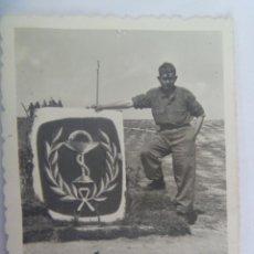 Militaria: FOTO DE MILITAR Y MONOLITO DEL CUERPO DE FARMACIA. Lote 194891946
