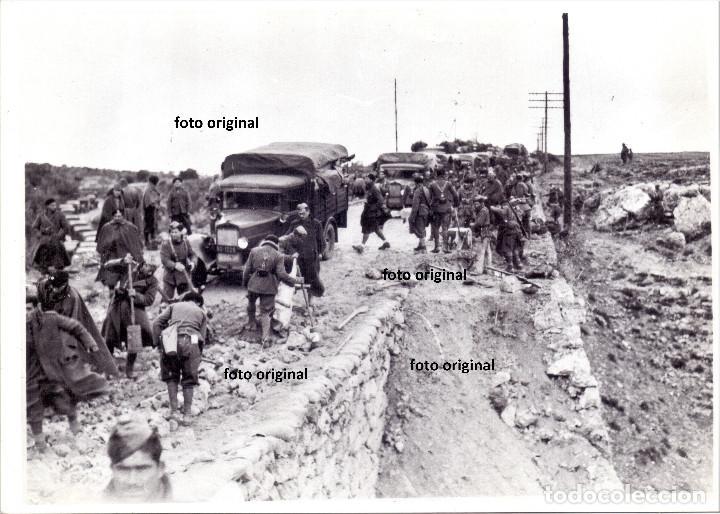 BATALLA GUADALAJARA CTV ITALIANO CRTA. NACIONAL REPUBLICA AVANCE MADRID GUERRA CIVIL 1937 (Militar - Fotografía Militar - Guerra Civil Española)