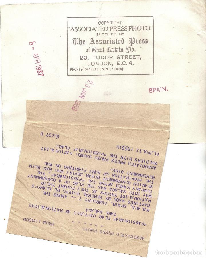 Militaria: CAIDA MALAGA BANDERA BATALLON LA PASIONARIA MILICIAS ANTIFASCISTAS REPUBLICA GUERRA CIVIL - Foto 2 - 194948465