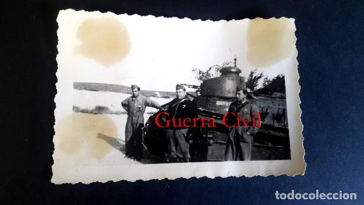 TANQUE - GUERRA CIVIL - 3 FOTOGRAFÍAS (Militar - Fotografía Militar - Guerra Civil Española)