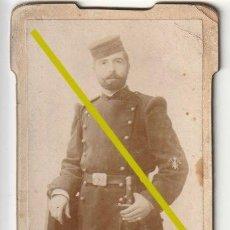 Militaria: FOTOGRAFIA SOLDADO MILITAR SIGLO XIX FOTOGRAFO SANCHEZ CASTELLON - D-26. Lote 194996132