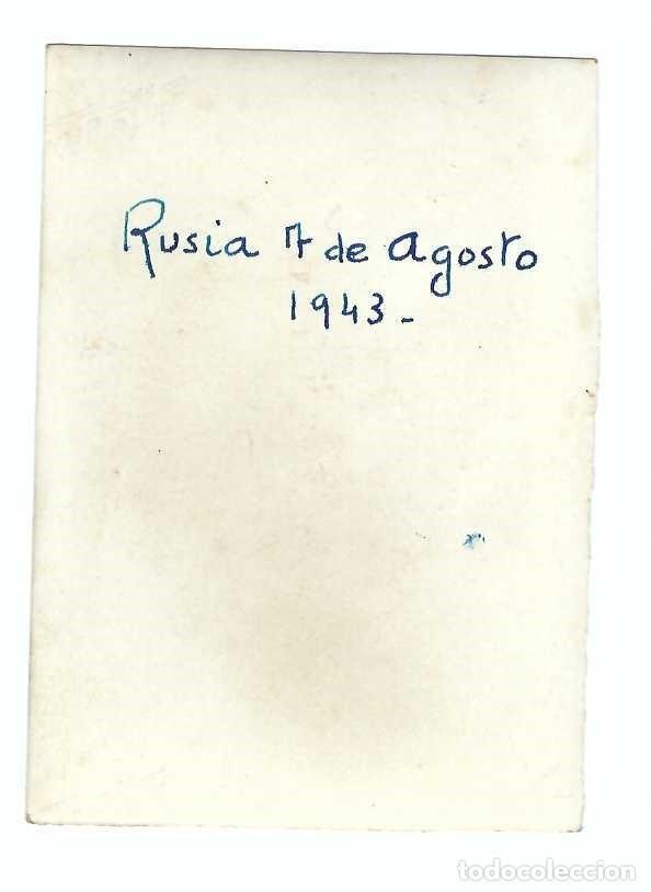 Militaria: DIVISIÓN AZUL - SOLDADOS ESPAÑOLES EN ROPA INTERIOR Y BOTAS DE CAMPAÑA. FECHA EN PARTE POSTERIOR - Foto 3 - 195145902
