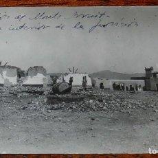 Militaria: FOTOGRAFIA DE LA GUERRA DEL RIF, OCTUBRE DE 1921, OCUPACION DE MONTE ARRUIT, VISTA INTERIOR DE LA PO. Lote 195169226