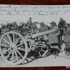 Militaria: FOTOGRAFIA DE LA GUERRA DEL RIF, 6 DE ENERO DE 1922, EL GENERAL CABANELLAS CON EL PRINCIPE D. FELIPE. Lote 195172361