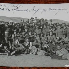Militaria: FOTOGRAFIA DE LA GUERRA DEL RIF, BUGARDAIN, KERT, OFICIALIDAD DE LAS COLUMNAS, LA COLUMNA DEL CORON. Lote 195175666