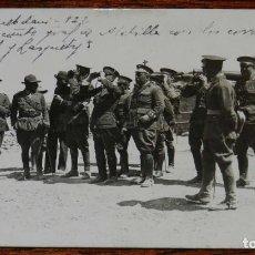 Militaria: FOTOGRAFIA DE LA GUERRA DEL RIF, DAR QUEBDANI 1922, ELNUEVO COMANDANTE GENERAL DE MELILLA CON LOS C. Lote 195182352