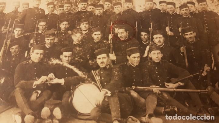 Militaria: Fotografía Ejército español. Regimiento de Infantería Guadalajara 30. Valencia. Años 20. - Foto 2 - 195210573