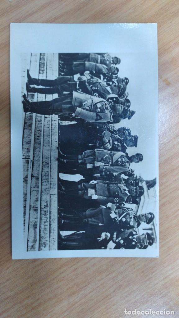 FOTOGRAFÍA ORIGINAL DE LA ÉPOCA HITLER Y MUSSOLINI EN ROMA (Militar - Fotografía Militar - II Guerra Mundial)