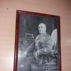 Militaria: ANTIGUO CUADRO FRANCISCO FRANCO 1 DE OCTUBRE DIA DEL CAUDILLO. Lote 195235505