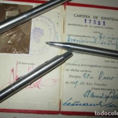Militaria: CARNET FOTO IMPORTANTE OFICIAL BON DE MELILLA HERIDO DE VALA EN GUERRA CIVIL 1 ENERO 1939 TENIENTE. Lote 195142383