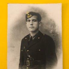 Militaria: MILITAR, ITALIA, FOTOGRAFÍA ANTIGUA. CAMISA NEGRA DEL PERÍODO FASCISTA DE MUSSOLINI. (H.1940?). Lote 195324700