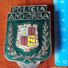 Militaria: CHAPA ORIGINAL POLICIA DE ANDORRA. Lote 195333023