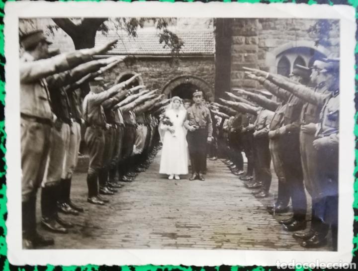 FOTO ORIGINAL - BODA DE UN MILITAR - PJRB (Militar - Fotografía Militar - II Guerra Mundial)