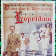 Militaria: LEOPOLDUM - REY LEOPOLDO III DE BÉLGICA - PJRB. Lote 195362435